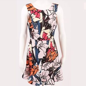 Ark & Co Dress SZ M Fit Flare Floral Sleeveless